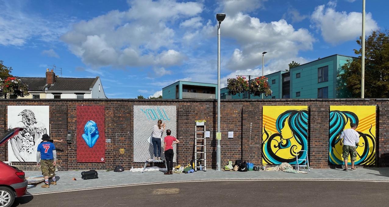 Cheltenham Paint Festival 2020 at Cheltenham Spa station