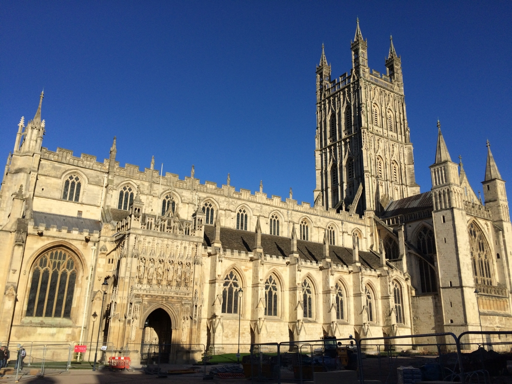 Outside of Gloucester Cathedral